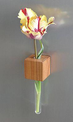 Magnetische vaas cherry magneet vaas bloem vaas reageerbuis