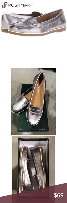 NWT NIB - Ralph Lauren Silver Metallic Loafers Achieve your polished everyday look in the LAUREN by Ralph Lauren™ Tal loafer. Leather upper. Slip-on construction. Rounded, moc toe. Penny keeper detail. Textile lining. Lightly padded footbed. Rubber outsole. Imported. Product measurements were taken using size 8, width B - Medium. Please note that measurements may vary by size. Measurements: Heel Height: 1⁄2 in Weight: 12 oz Lauren Ralph Lauren Shoes Flats & Loafers