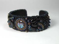 bead embroidery cuff - Google Search