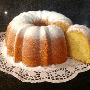 Vanillepudding-slagroomcake