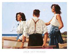 Young Hearts Landscapes Art Print - 50 x 46 cm