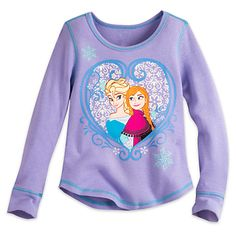 Frozen Long Sleeve Thermal Tee for Girls | Disney Store