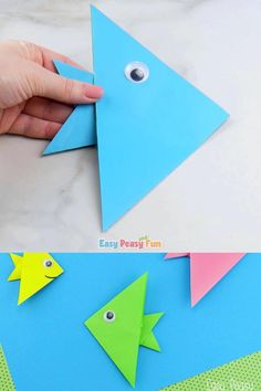 Paper Crafts Origami, Paper Crafts For Kids, Craft Activities For Kids, Preschool Crafts, Paper Folding For Kids, Preschool Christmas, Preschool Ideas, Kids Christmas, Christmas Crafts