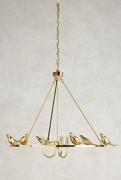 Golden Perch Chandelier