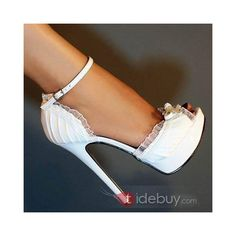 Shop Elegant PU Peep Toe Ankle Strap High Heel Shoes & Wedding Shoes on sale at Tidestore with trendy design and good price. Come and find more fashion Pumps here. Pretty Shoes, Cute Shoes, Me Too Shoes, Women's Shoes, Shoe Boots, Awesome Shoes, Prom Shoes, Shoes Sneakers, Dress Shoes