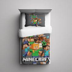 #25+Minecraft+Creeper+Custom+Fleece+Blanket/+Pillow+Case+Bed+Set+Bedding+Single/+Twin