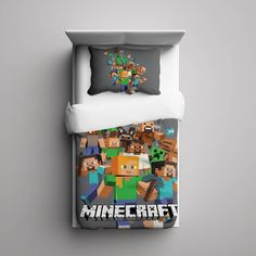 #25+Minecraft+Creeper+Custom+Fleece+Blanket/+Pillow+Case+Bed+Set+Bedding+Single/+Twin