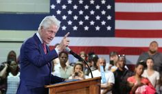 Former U.S. President Bill Clinton campaigns for his wife, Democratic…
