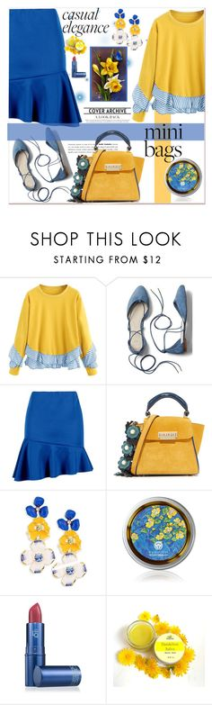 """Casual Elegance"" by loveroses123 ❤ liked on Polyvore featuring Gap, Boohoo, ZAC Zac Posen, Kenneth Jay Lane, Lipstick Queen and minibags"