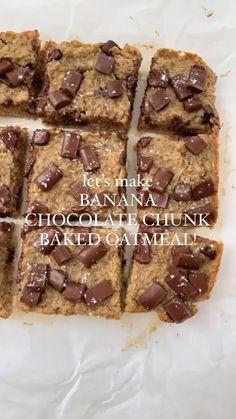Banana Chocolate Chunk Baked Oatmeal