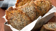 Herbs and Seeds Parmesan Crackers