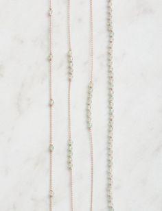 Purl Soho   Gemstones + Knots Necklaces   Green Quartz