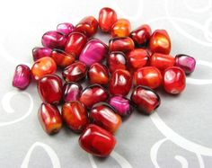 25 Pomegranate Seed Beads - Made to Order.