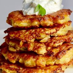 This latke is made with a variety of vegetables, making for a somewhat more nutritious Chanukah indulgence.  Get more Chanukah recipes from our Chanukah recipe collection. Hanukkah Food, Hanukkah Recipes, Hanukkah Crafts, Low Carb Recipes, Vegan Recipes, Potato Latkes, Russet Potatoes, Everyday Food, Recipe Collection