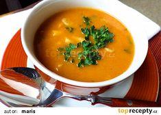 Polévka z hlívy ústřičné à la dršťková recept - TopRecepty.cz Thai Red Curry, Recipies, Treats, Cooking, Ethnic Recipes, Weddings, Decor, Diet, Red Peppers