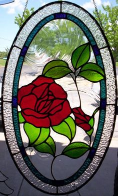 Working on a new website and going through pictures of past work... #stainedglass #art #rose