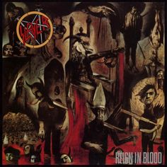 Reign in Blood is the third studio album and the major label debut by the American thrash metal band Slayer. It was released on 7 October 1986 on Def Jam Recordings. Possibly the greatest extreme thrash record of all time. Thrash Metal, Black Metal, Rock Y Metal, Black Sabbath, Show No Mercy, Cover Art, Rock And Roll, Musica Metal, Album Covers