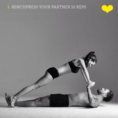 """1,927 Likes, 325 Comments - Protein World (@proteinworld) on Instagram: """"❤️ Valentine's couples workouts  Bench press your partner 10 times! Couples that train together,…"""""""