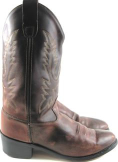 Old West Women Leather Western Boots Size 7 Brown Style CCY1152G.  ZZZ 42 #OldWest #Western