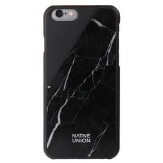 Native Union iPhone 6 Marble Case ($80) ❤ liked on Polyvore featuring accessories, tech accessories, phone cases, phone, fillers, black and native union