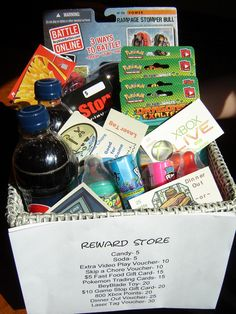 Mom's Reward Store.. make them want to do good and earn cool stuff!