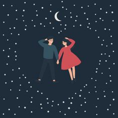 Starry Night Sky, Night Skies, Artsy Background, Cute Love Stories, Fish Wallpaper, Night Love, Night Couple, Cute Little Things, Love Drawings