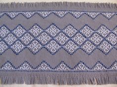 swedish weaving  | Celtic Cross Holiday Table Runner-Swedish Weaving-Gray Monk's Cloth ...