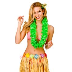 Buy green petal hawaiian hibiscus lei garland fancy dress accessory - Largest online fancy dress range in the UK - Price Guarantee & FREE Delivery Hawaiian Costume, St Patrick's Day Costumes, Leprechaun Costume, Fancy Dress Accessories, Hibiscus, Garland, Hawaiian Leis, Lady, Celebrities