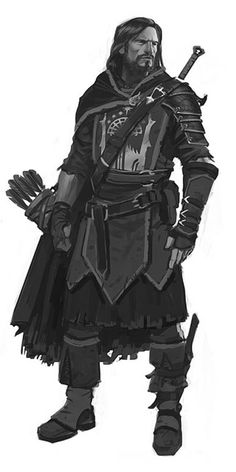 Male Human Ranger Fighter Knight Longbow