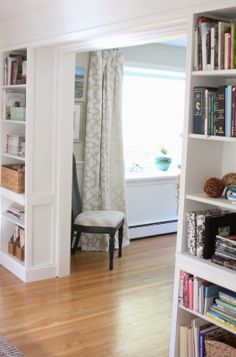 Shine Your Light: One Room Challenge, The Reveal: Built In Bookcases
