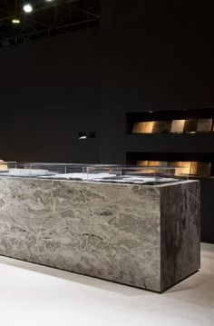 Interieur 2012 fair stand of Hullebusch (natural stone). #marble