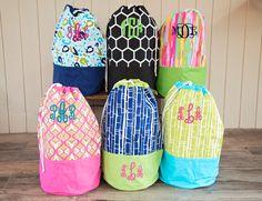 Monogrammed Laundry Bag - Monogram Hamper - Graduation Gift - Monogram Beach Bag -  Monogram Clothes Hamper by JennLorynDesigns on Etsy https://www.etsy.com/listing/232554049/monogrammed-laundry-bag-monogram-hamper