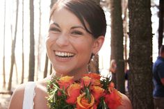 A few years ago I was a guest at my cousin Erika's wedding and I took a ton of pictures of their beautiful day. Erika and Eise's wedding was. All Pictures, My Photos, Roses For Her, Orange Roses, Bridal Portraits, Erika, Beautiful Bride, Our Wedding, Bouquet