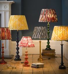 One of our great discoveries at Pooky was resin, and how fabulous it is for making table lamps