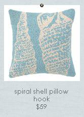 Seaside Inspired | Beach Decor | seashell pillows from SeasideInspired.com.