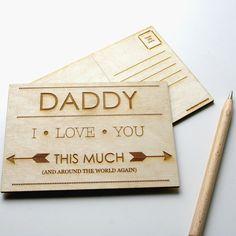 Papa ich liebe dich so viel Holz graviert von woodpaperscissorsuk