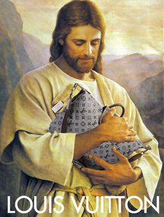 Funny Weird Jesus Collection - Clutching his Louis Vuitton designer handbag picture Louis Vuitton Designer, Funny Christmas Captions, Christmas Humor, Ridiculous Pictures, Losing My Religion, Les Religions, Photoshop, Illustration Art, Illustrations