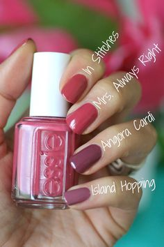 Essie Bridal 2016 - Mrs. Always Right Collection Review Comparisons | Essie Envy