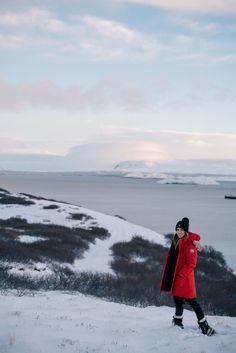 Gal Meets Glam Iceland Itinerary Part 1 - Canada Goose Coat, J.Crew Turtleneck, Black Ski Pants, Sorel Boots & Moncler Beanie
