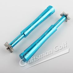 Smiling Face Series 6 Head U&V Golf Club Groove Sharpener For Iron & Wedge-Blue, designed by CRAFTSMAN GOLF.