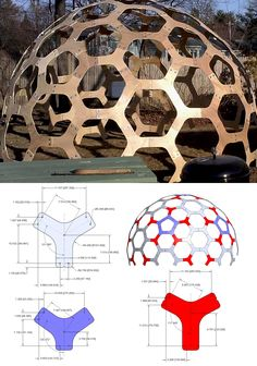"12'(3.7m) dia. Hex Dome pattern.  Use 3/8""(10mm) plywood."