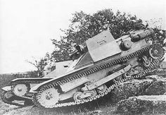 CV-33  Classed as a tankette, the CV33 served Italy on all fronts, similar to the British bren carrier. An export success for the Italian goverment the CV33 served many countries all over the world.