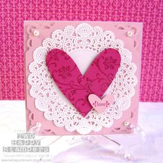 doilies, perfect for making valentines cards with my 6-year old daughter.