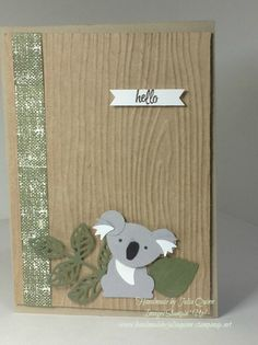 handmade by Julia Quinn - Independent Stampin' Up! Demonstrator: Hello Little Koala - from Foxy Friends