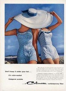 Jantzen Bathing Suit Ad 1958 Celanese Fabric Swim Suit Fashions