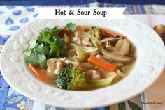Hot & Sour Soup - swap the soy sauce for coconut aminos to make Paleo.