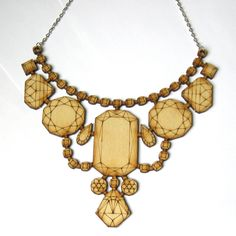 Wood Laser Cut Statement Necklace from Fab Parlor