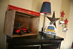 Vintage Car Room... Exactly what I want to do in Dane's room!