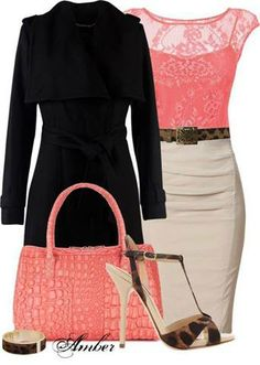 A Classy Outfit. in LOVE with the purse and the lace shirt!