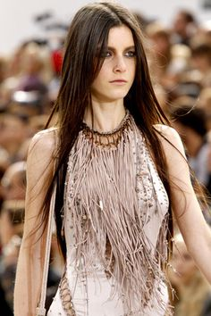 roberto cavalli | suede fringe necklace  I could see this made of other materials too!